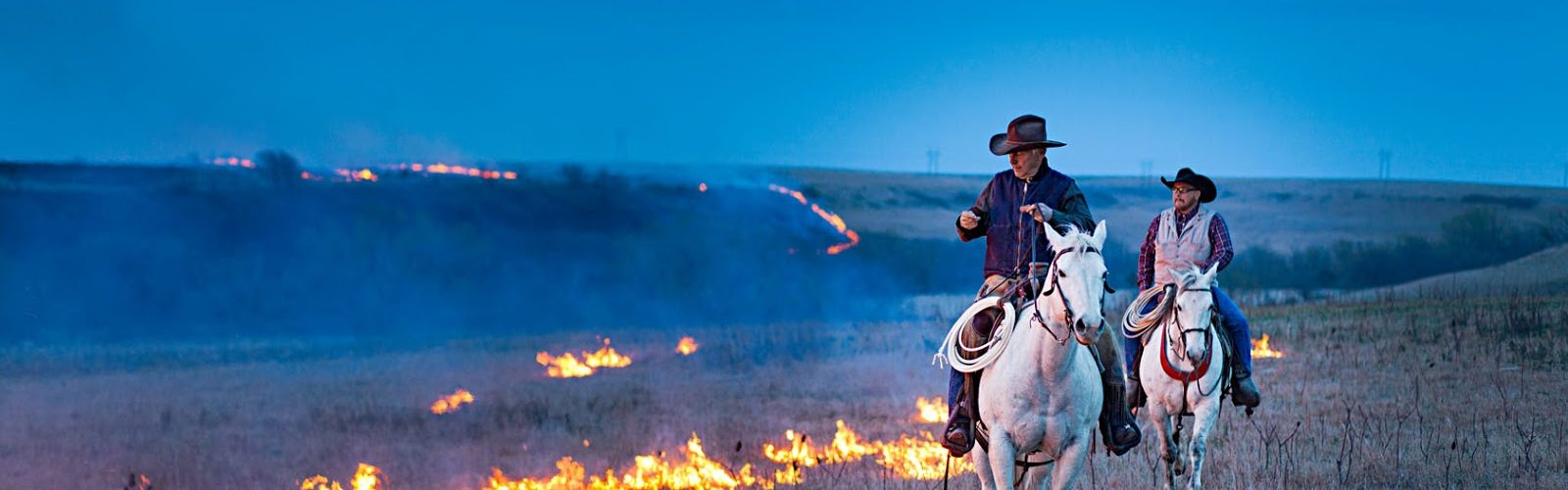 Annual Prairie Fire, Flint Hills, Kansas by Ryan Donnell.