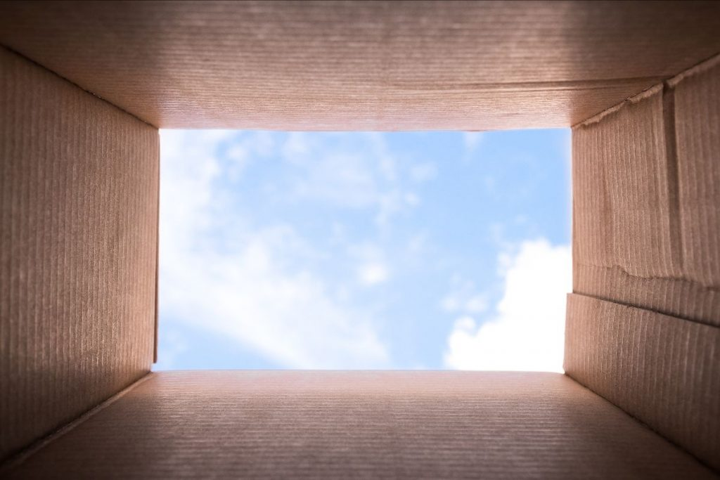 looking-at-sky-from-bottom-of-box